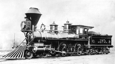CP Locomotive No. 173, built by Norris Lancaster 1864, later SP 1523, photographer unknown