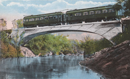California Central Traction crosses the Mokelumne River, post card photo Pacific Novelty Co. San Francisco