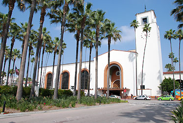 Los Angeles Union Station from Alameda St. May 2011, photo by Richard Boehle