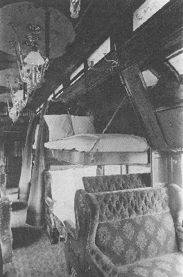 Interior of a Pullman Sleeping Car in 1890 (Pullman photo)