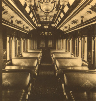 Pullman's Palace Smoking Car (CE Watkins, courtesy N.Y. Historical Society)