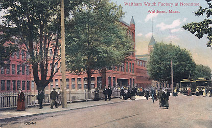 American Waltham Watch Factory at Noontime