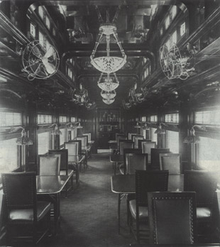 ATSF dining car built by the Pullman Company in 1914 (Pullman Neg. 17610)