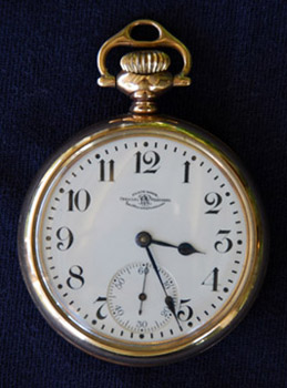 Ball Official Railroad Standard 16-size watch manufactured 1920 by Waltham