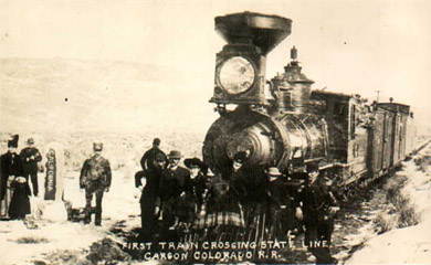 First C&C Train Crossing State Line (Richard Boehle collection)
