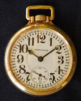 Hamilton 992E with an Elinvar hairspring and Montgomery Dial- mfg 1936