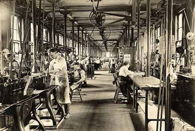 Flat Steel Room at the Hampden Watch factory