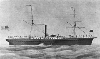 Steamship S.S. Sonora of the Pacific Mail Steamship Company (Wells Fargo Bank Collection)