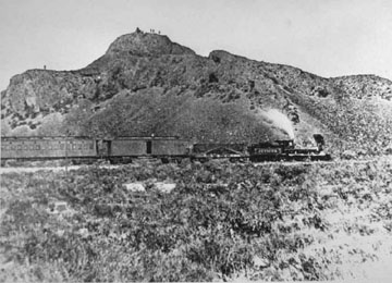 Governor Leland Stanford's Train enroute to Promontory pulled by the Jupiter